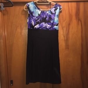 AGB Dress blue and purple floral